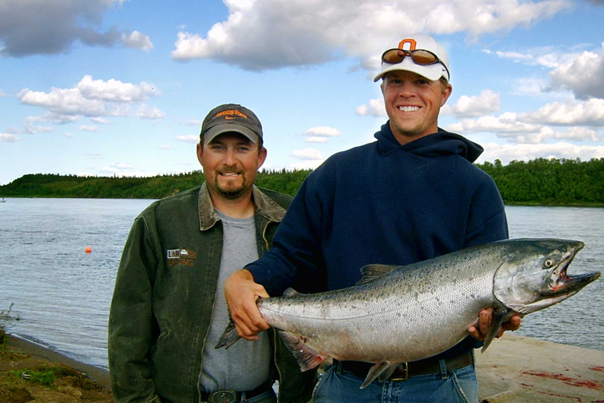 Salmon camp nushagak river fishing andersons salmon camp for Salmon river fishing reports